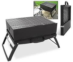 This barbecue grill folds up to the size of a briefcase! It opens up to  provide a 45 x 30cm cooking area. Link -via Bits and Pieces