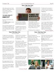 Free Newspaper Templates Print And Digital Makemynewspaper Com