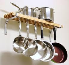 Wall Mount Pot Rack With Shelf Pan Cooking Holder Kitchen Storage Kitchen  Hang