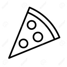 pizza slice clipart black and white. Contemporary Clipart Banque Du0027images  Pizza Slice Avec La Ligne De Pepperoni Icne Lu0027art  Pour Les Applications Et Sites Web For Slice Clipart Black And White D