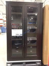 glass door bookcase costcochaser