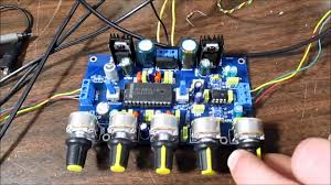 Stereo preamplifier board with tone control test & review - YouTube