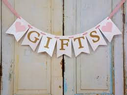 Baby Shower Banner Gifts Banner With Hearts Cream Pink And Gold Banner Wedding