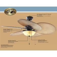 hampton bay havana 48 in outdoor natural iron ceiling fan 191008