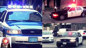 Ford Crown Victoria Police Interceptor Responding Lights and ...