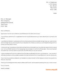 Dentist Cover Letter Example Icover Org Uk