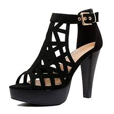 Strappy <b>Platform</b> Black <b>High Heel Sandals</b>: Amazon.com
