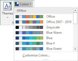 How To Change The Default Colors That Excel Uses For Chart