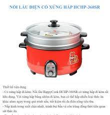 Nồi Lẩu Điện Happy Cook 3.5L HCHP-360SR - Màu đỏ - Hàng Chính Hãng