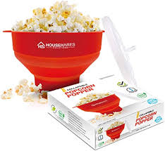 Collapsible <b>Silicone Microwave Hot</b> Air Popcorn Popper Bowl with ...