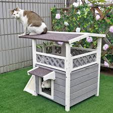 Cat House Amazoncom Petsfit 2 Story Outdoor Weatherproof Cat House Condo