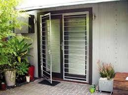 security front doorsFront Door With White Security Door  Exterior Security Doors For