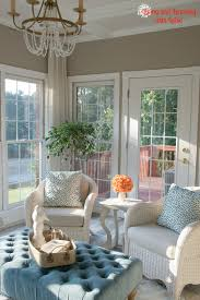 Sherwin Williams Perfect Greige Sunroom Paint Color
