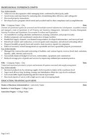 Supply Chain Manager Resume Sample Template