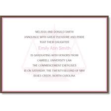 commencement invitations big scale of justice pink and brown graduation invitations