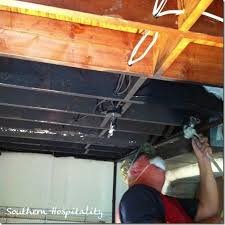 exposed ceiling lighting basement industrial black. tips for painting an open basement ceiling black exposed lighting industrial h
