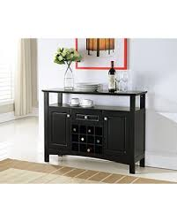 kings brand furniture wood wine rack buffet cabinet storage console table black black wine cabinet b74