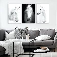 horse wall art white horse wall art canvas prints modern art home decor for living room horse wall art