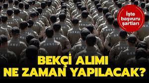 Jandarma 10 bin bekçi alım şartları!