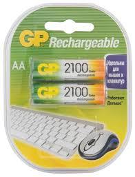 Аккумулятор <b>Ni</b>-Mh 2100 мА·ч GP Rechargeable 2100 Series AA ...