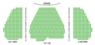 Broad Theater Seating Chart Marquis Theatre Seating Chart Tootsie Seating Guide