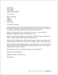 complaint letter examples complaint letter template word