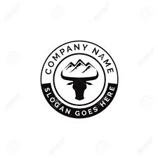 Logo Design Buffalo Ny Buffalo Head With Mountain Above Emblem Badge Logo Design