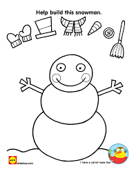 Small Picture Build Your Own Snowman Coloring Page Coloring Page Blog
