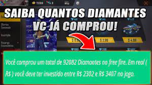 TOTAL DE DIAMANTES COMPRADOS NO FREE FIRE - FREEFIRENEWS