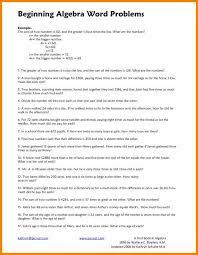 Simple Algebra Word Problems Worksheets Worksheets for all ...