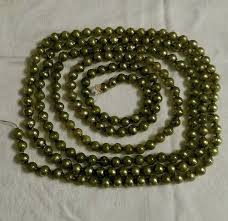 details about vintage green mercury glass bead tree garland