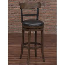 american woodcrafters taranto 34 in washed brown swivel tall bar stool