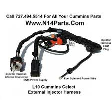 cummins l m celect external engine injector wiring harness 3083779 cummins l10 m11 celect external engine injector wiring harness