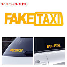 fake taxi sticker vinyl decal car