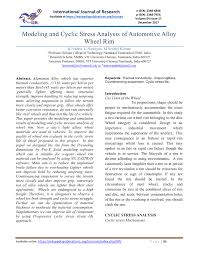 Practical Stress Analysis For Design Engineers Jean Claude Flabel Pdf Modeling And Cyclic Stress Analysis Of Automotive Alloy