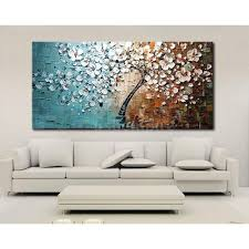 modern abstract art oil painting on canvas wall decor flower tree pertaining to most cur cherry