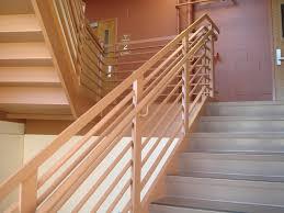 image of modern stair railing wood