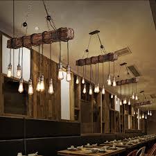 wood beam island hanging pendant ceiling light vintage chandelier farmhouse 1 of 1free