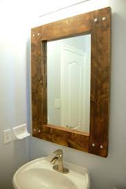 diy wood mirror frame. Remarkable How To Frame A Mirror With Wood Rustic Diy  Ideas R