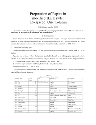 Ieee Format Modified For Single Column Double
