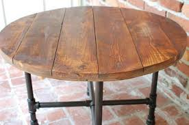 kitchen room rustic round dining table long wooden intended for prepare 19