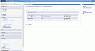configuring ibm websphere values populate in the shared libraries column as shown in the following image