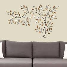leaf branch wall art multi metallic touch to zoom