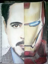 tony stark iron man drawing bedroom upstairs tony stark