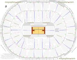 Sap Center Nba Basketball Tournament Game Seating Map