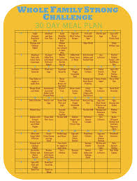 30 Day Healthy Eating Plan Wfs Challenge 30 Day Meal Plan Whole Family Strong