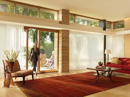 image of modern sliding door window treatments
