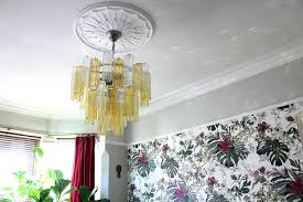 my stunning glass chandelier from rock candy in amber and