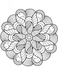 Flower Mandala Coloring Pages Adult Coloring Pages Mandala