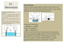 20 electrolysis of brine salty water equations
